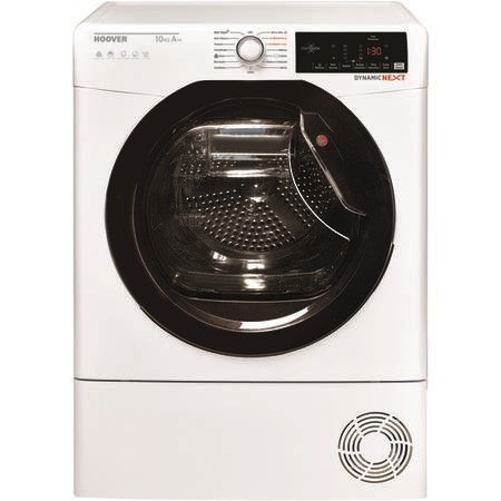 Hoover DXHY10A2TKE Dynamic Next Aquavision With One Touch 10kg Freestanding Hybrid Heat Pump Condenser - White