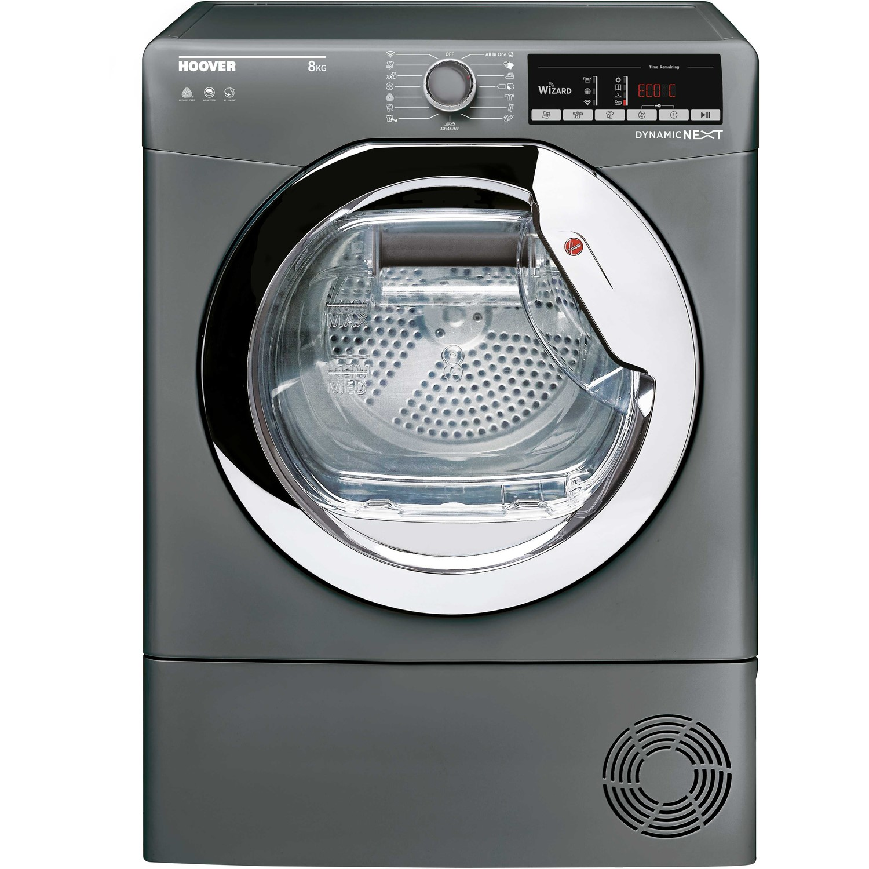 Hoover DXOC8TCER-80 8kg Freestanding Condenser Tumble Dryer - Graphite Graphite