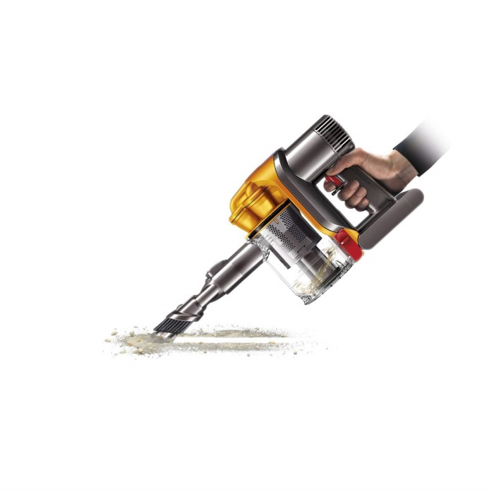 dyson dyndc34 handheld vacuum cleaner grey and yellow appliances direct. Black Bedroom Furniture Sets. Home Design Ideas
