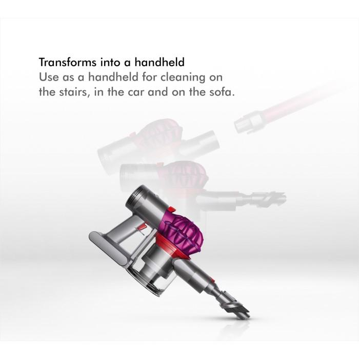 dyson v7 motorhead stick cordless vacuum cleaner grey and pink dynv7 appliances direct. Black Bedroom Furniture Sets. Home Design Ideas
