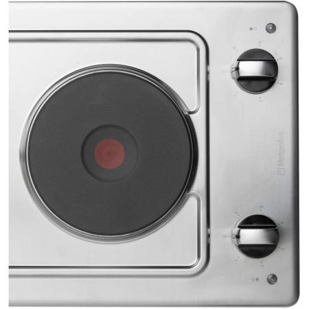 Hotpoint E320SKIX 30cm Wide Two Zone Sealed Plate Hob - Stainless Steel