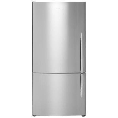 Fisher & Paykel E402BLX4 24055  63.5cm Wide Curved Door Left Hand Hinge Freestanding Fridge Freezer - EZKleen Stainless Steel