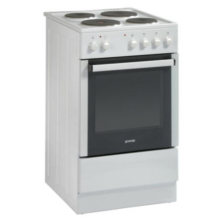 GRADE A1 - Gorenje E52108AW White 50cm Single Cavity Electric Cooker With Sealed Plate Hob