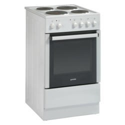 Gorenje E52108AW White 50cm Single Cavity Electric Cooker With Sealed Plate Hob