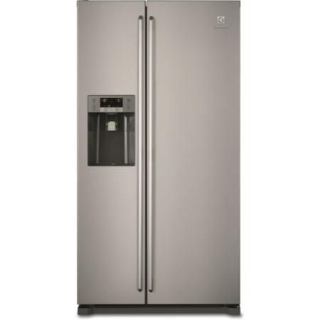 electrolux eal6141wox side by side fridge freezer grey with antifingerprint stainless steel. Black Bedroom Furniture Sets. Home Design Ideas
