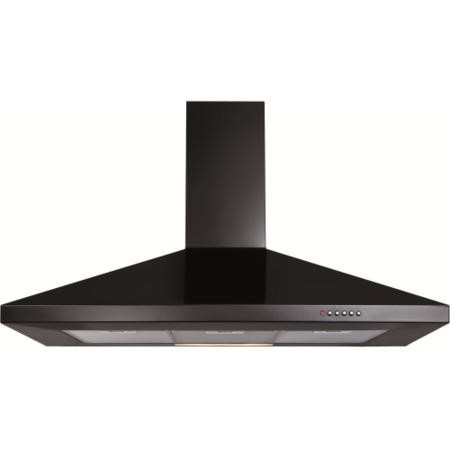 CDA ECH101BL Level 1 100cm Wide Chimney Cooker Hood Black