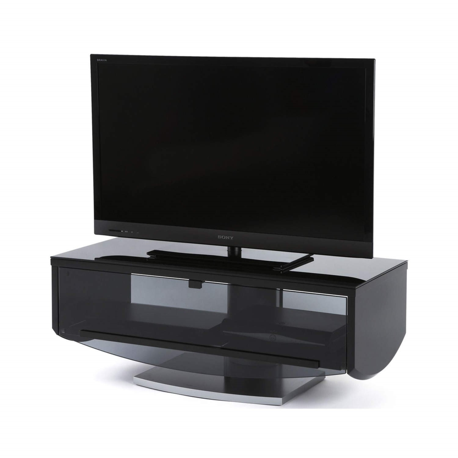 buy online bf7d8 f9bb0 Off The Wall Eclipse 1000 Black TV Cabinet - Up to 55 Inch