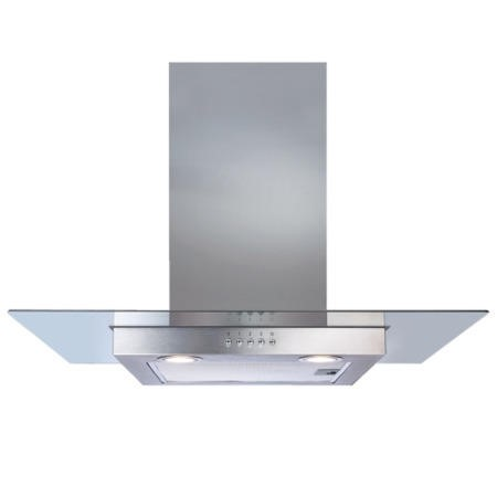 CDA ECN72SS Flat Glass And Stainless Steel 70cm Wide Chimney Cooker Hood