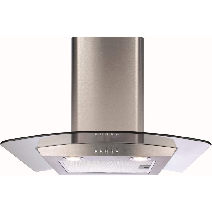 Cm Cooker Hood Black Glass Steel