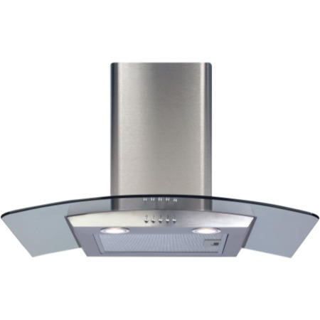 CDA ECP72SS Curved Glass 70cm Chimney Cooker Hood Stainless Steel