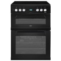 Beko EDC633K 60cm Freestanding Double Oven Electric Cooker With Ceramic Hob - Black Best Price, Cheapest Prices
