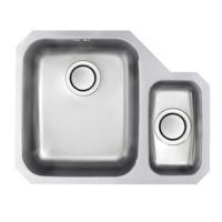 Astracast EDD1XXHOMESKR Edge D1 Undermount 1.5 Bowl Polished Stainless Steel Sink with Right Hand Small Bowl