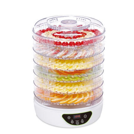 electriQ Digital Food Dehydrator & Dryer with 6 Collapsible Shelves and 48 Hour Timer