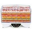 electriQ Maxi Digital Food Dehydrator with 6 Collapsible Shelves and 48 Hour Timer