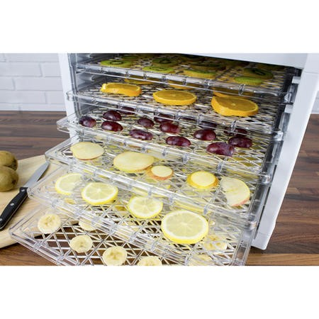 Electriq Pro Food Dehydrator - With 6 Shelves and 48 Hour Timer - Dehydrate Fruit Meat Vegetables With Recipes