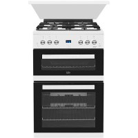 Beko EDG6L33W 60cm Double Oven Gas Cooker - White Best Price, Cheapest Prices