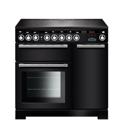 Rangemaster EDL90EIBLC Encore Deluxe 90cm Electric Range Cooker With Induction Hob Black