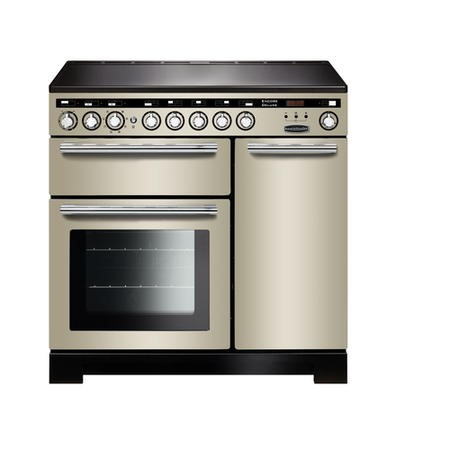 Rangemaster EDL90EIIVC Encore Deluxe 90cm Electric Range Cooker With Induction Hob Ivory