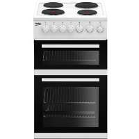 Beko EDP503W Freestanding 50cm Double Oven Electric Cooker With Sealed Plate Hob - White Best Price, Cheapest Prices