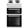 Beko EDP503W Freestanding 50cm Double Oven Electric Cooker With Sealed Plate Hob - White