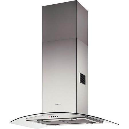 electrolux efa90245x curved glass 90cm island cooker hood. Black Bedroom Furniture Sets. Home Design Ideas