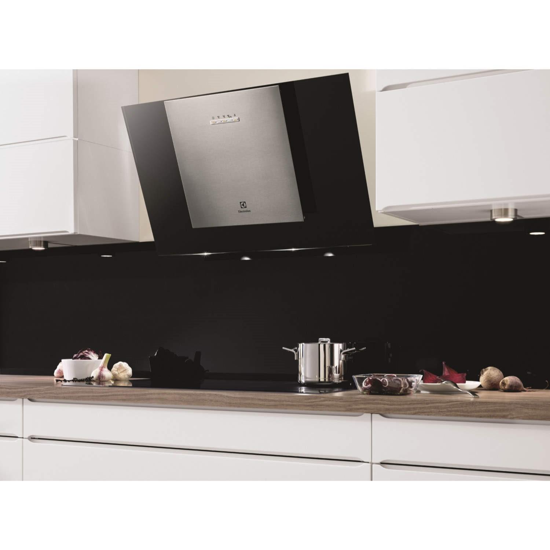 Electrolux Eff80550dk Angled 80cm Cooker Hood With Black