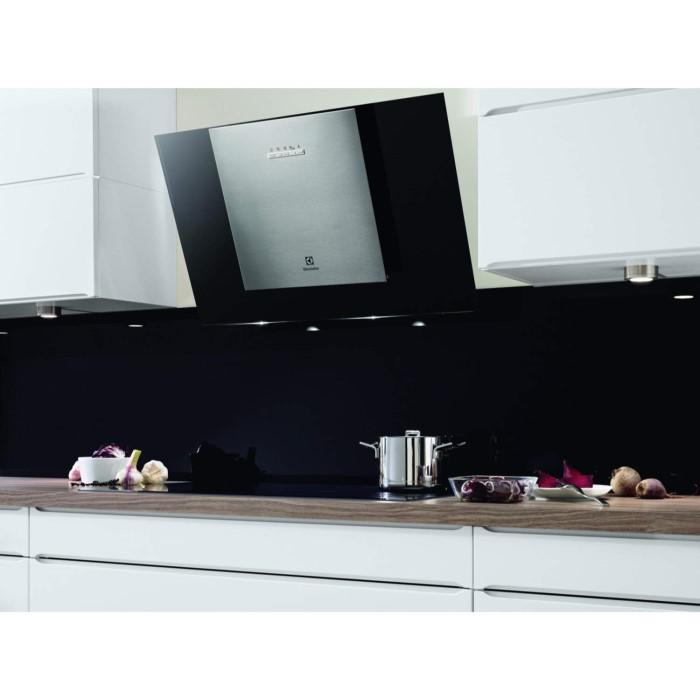electrolux eff80569dk 80cm angled cooker hood black. Black Bedroom Furniture Sets. Home Design Ideas