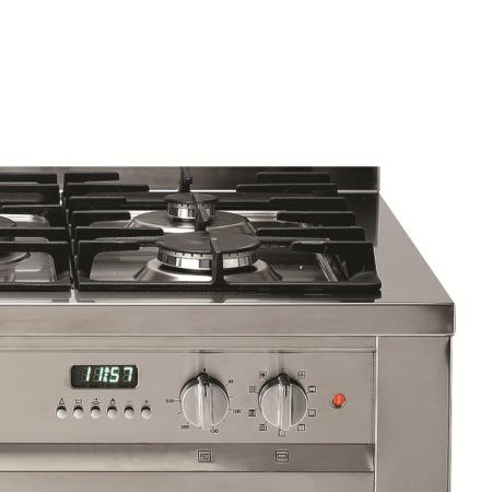 Hotpoint EG900XS Single Oven 90cm Wide Dual Fuel Range Cooker Stainless Steel