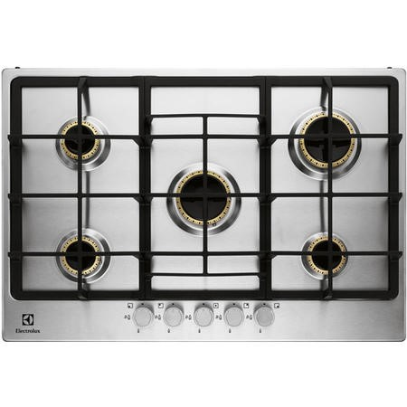 GRADE A1 - Electrolux EGG7355NOX Five Burner Gas Hob Stainless Steel