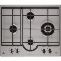 Electrolux EGH6343LXX 60cm Four Burner Gas Hob Stainless Steel
