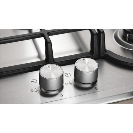Electrolux EGH7353SOX 75cm Five Burner Gas Hob Stainless Steel With Cast Iron Pan Stands