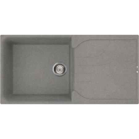 Reginox EGO480-TT Large 1.0 Bowl Regi-Granite Composite Sink With Reversible Drainer Metaltek Titani