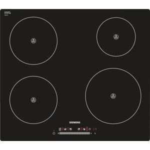 Siemens EH601FE17E 57cm Wide Touch Control Four Zone Induction Hob - Black