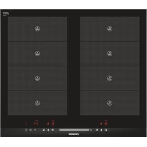 Siemens EH675MV17E 60cm touchSlider Four Zone Induction Hob With 2 FlexInduction Zones Black