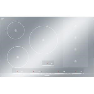 Siemens EH879SP17E iQ700 touchSlider Control 81cm Wide Induction Hob With FlexInduction Zone Metal Look Glass