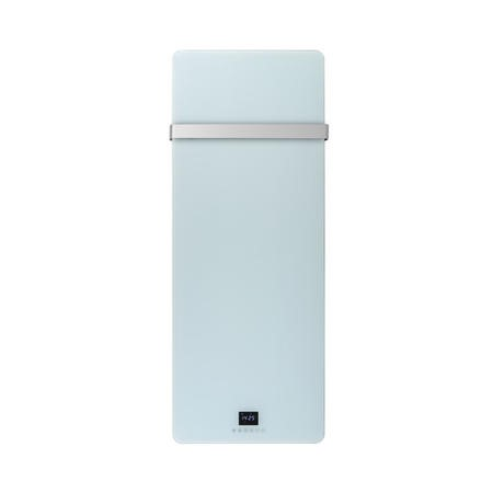 Low Energy 850w Designer Glass Infrared Wall Mounted Heater with Towel Rail and Smart WiFi Alexa - IP24 Bathroom Safe