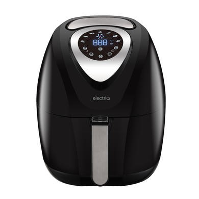 electriQ 3.2L Low Fat Healthy Air Fryer 1400w with Digital Controls and Divider