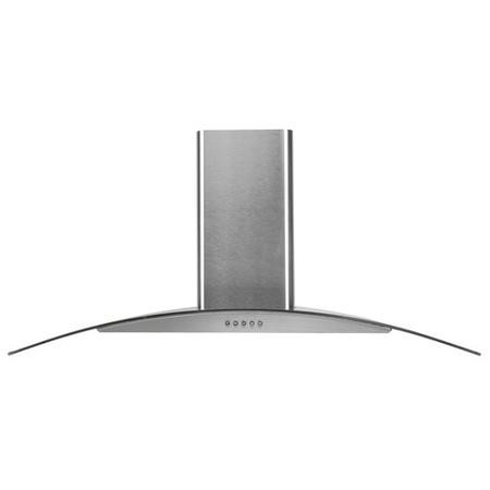 electriQ 90cm Curved Glass Chimney Cooker Hood - Stainless Steel