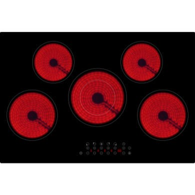 ElectriQ 77cm 5 Zone Touch Control Bevelled Edge Ceramic Hob