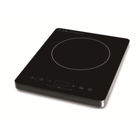 electriQ Portable Touch Control Single Zone Induction Hob Black