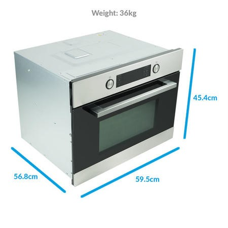 ElectriQ 44 litre  Built-In Combination Microwave Oven in Stainless Steel