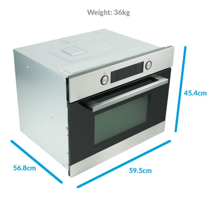 Electriq 44 Litre Built In Combination Microwave Oven Stainless Wiring Diagram Smeg Steel