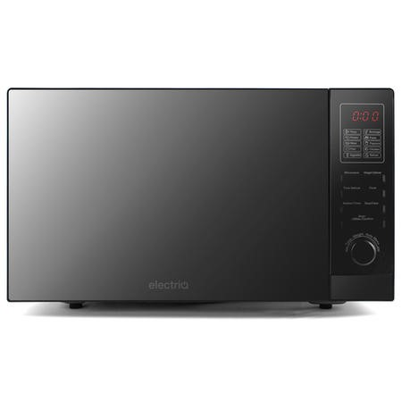GRADE A1 - electriQ 25L 900W Freestanding Microwave with Digital Display in Black