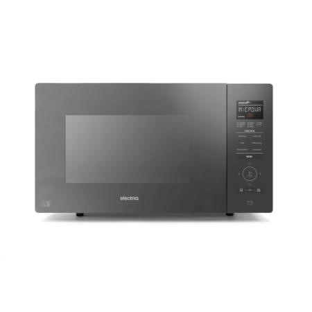 GRADE A1 - ElectriQ 25L Digital 900w Inverter Microwave Oven Black with Touch Door Opening