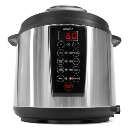 GRADE A1 - electriQ 6 litre 7-in-1 Electric Multifunction Pressure Cooker