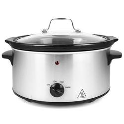 electriQ 3.5L Stainless Steel Slow Cooker - For 1 to 3 people