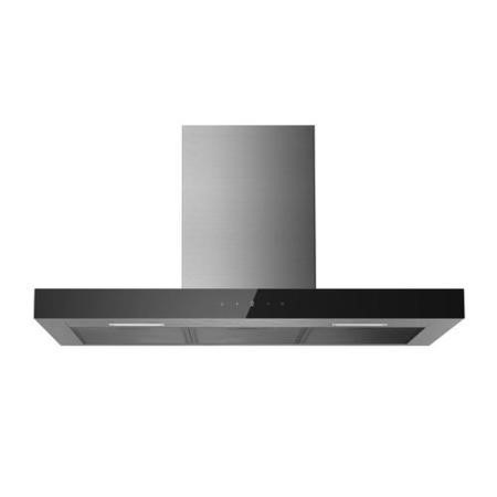GRADE A1 - electriQ 90cm Slimline Touch Control Stainless Steel Chimney Cooker Hood