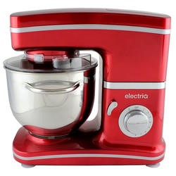 ElectriQ 5.2 litre Electric Food Stand Mixer 1500w Red with Dishwasher Safe Attachments