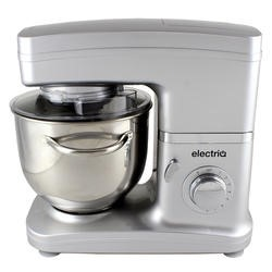 ElectriQ 5.2 litre Electric Food Stand Mixer 1500w Silver with Dishwasher Safe Attachments