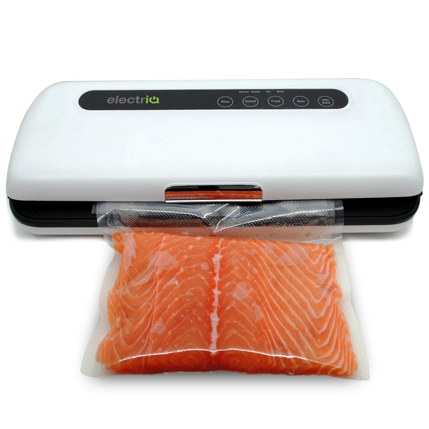 electriq food vacuum sealer keeps food fresh for longer now with gentle setting for